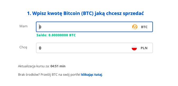 sprzedaj bitcoin