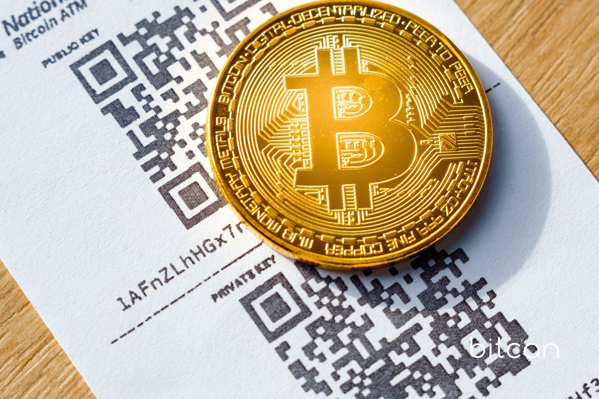 Papierowy portfel bitcoin